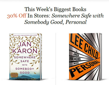 30% Off Books at Barnes & Noble