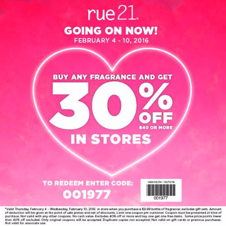 Buy Any Fragrance & Get 30% Off $40 or More