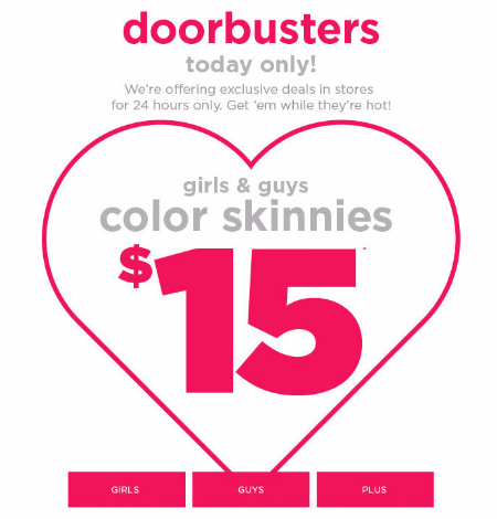 $15 Color Skinnies