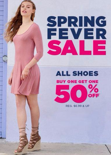 All Shoes BOGO 50% Off