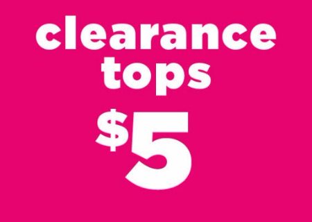 $5 Clearance Tops