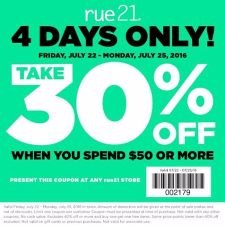 Take 30% Off When You Spend $50 or More