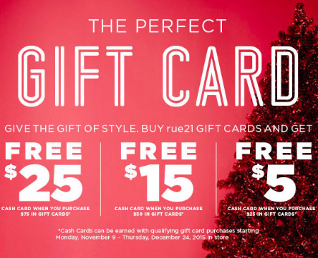 Receive Up to $25 Cash Card $75 Gift Cards Purchase