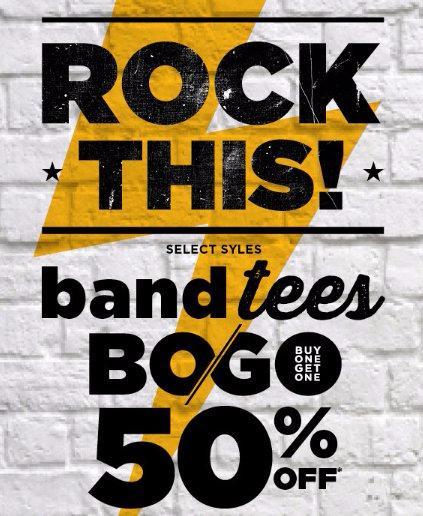 Band Tees BOGO 50% Off