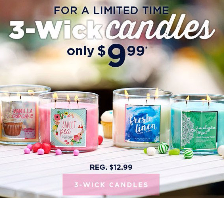 3-Wick Candles Only $9.99
