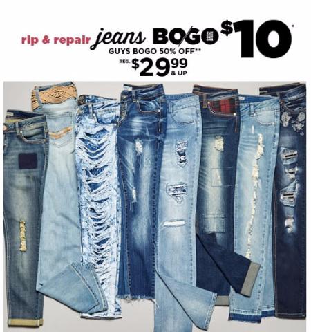 Rip & Repair Jeans BOGO $10