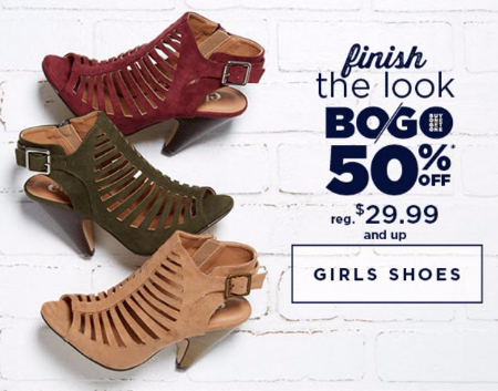 Girls Shoes BOGO 50% Off