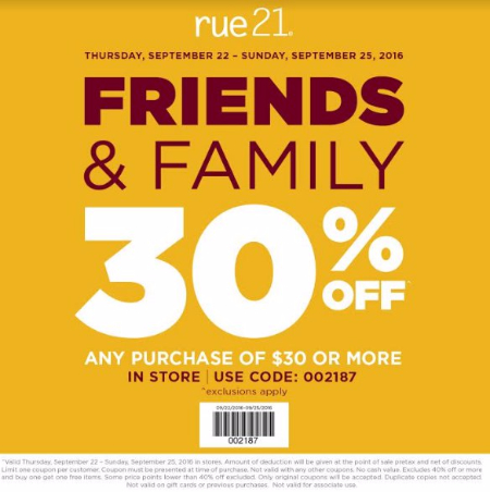 30% Off a Purchase of $30 or More