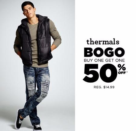 Thermals BOGO 50% Off
