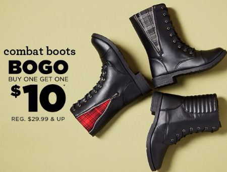 Combat Boots BOGO $10