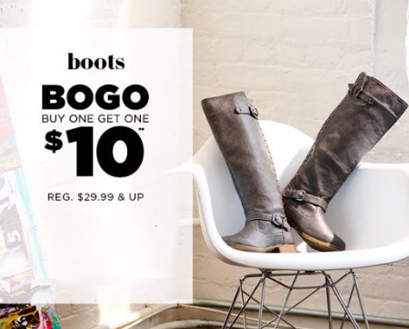 Boots BOGO $10