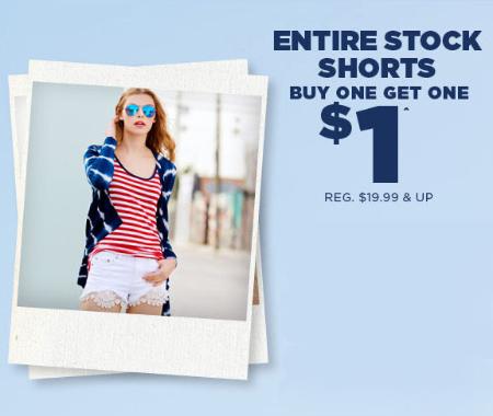 BOGO $1 Shorts