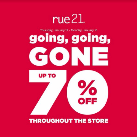 Up to 70% Off Throughout The Store