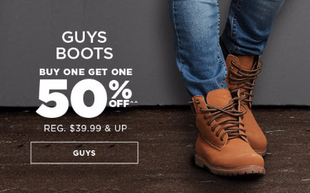 Guys Boots BOGO 50% Off