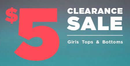 $5 Clearance Sale at rue21