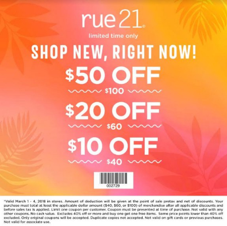 image regarding Rue 21 Coupons Printable called rue21