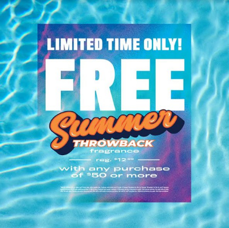 College Square Mall ::: Free Summer Throwback Fragrance With