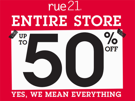 Labor Day Weekend Sale at rue21