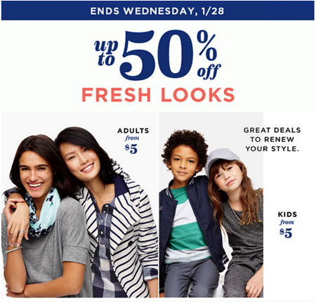 Up to 50% Off Spring's New Looks at Old Navy