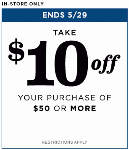 $10 Off $50 or More Purchase at Old Navy