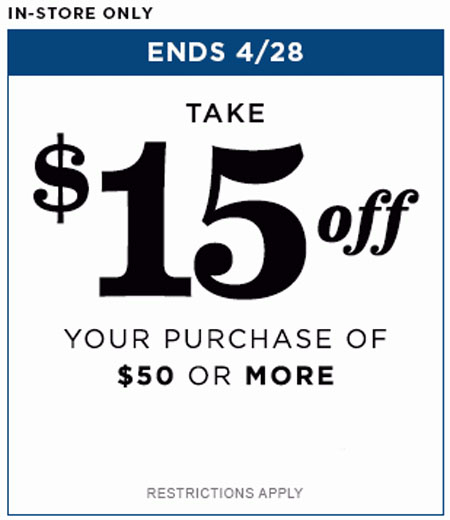 $15 Off $50 or More at Old Navy