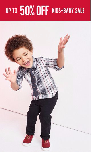 Up to 50% Off Kids & Baby Sale
