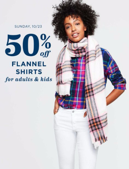 50% Off Flannel Shirts for Adults & Kids