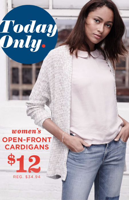 $12 Open-Front Cardigans at Old Navy