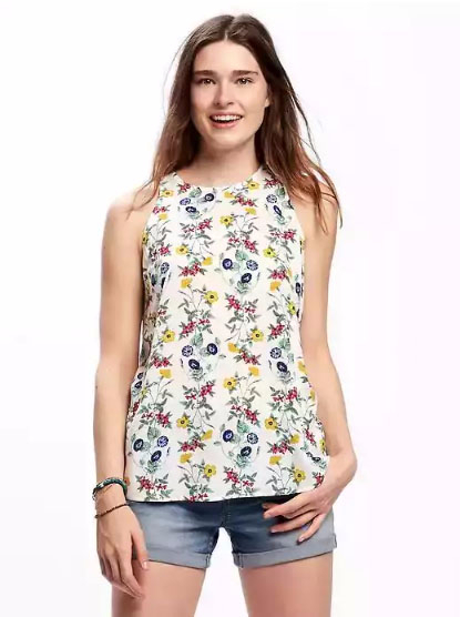 Old Navy | Relaxed High-Neck Tank for Women