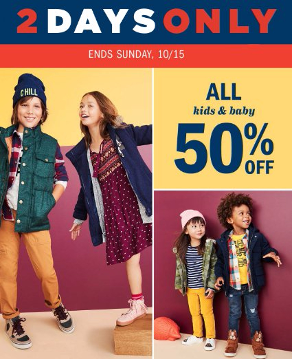 43d3d8ff9 Central Mall Salina :: 50% Off All Kids & Baby at Old Navy :: 10/14 ...