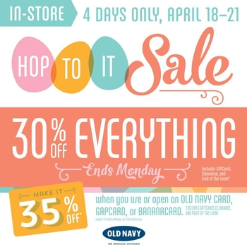 Easter's Best Sale at Old Navy