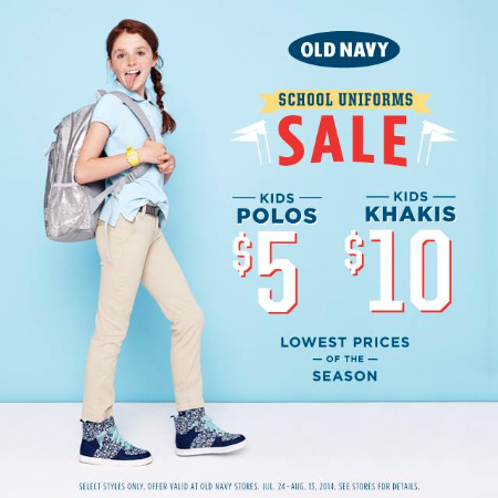Get kids' khakis for $10 and polos for $5, and style inspiration all in one... at Old Navy
