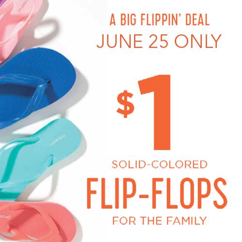 $1 Flip Flop Sale