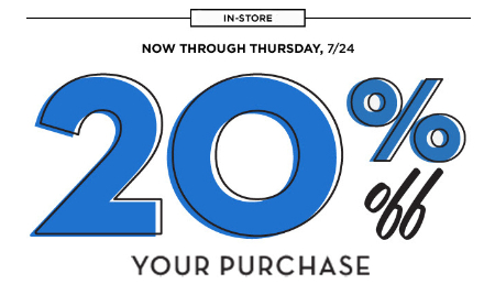 20% Off Your Purchase at Old Navy