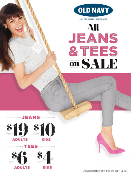 All Jeans & Tees on Sale at Old Navy