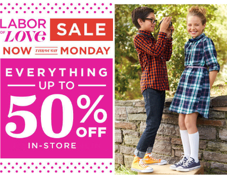 Up to 50% Off Everything at Old Navy