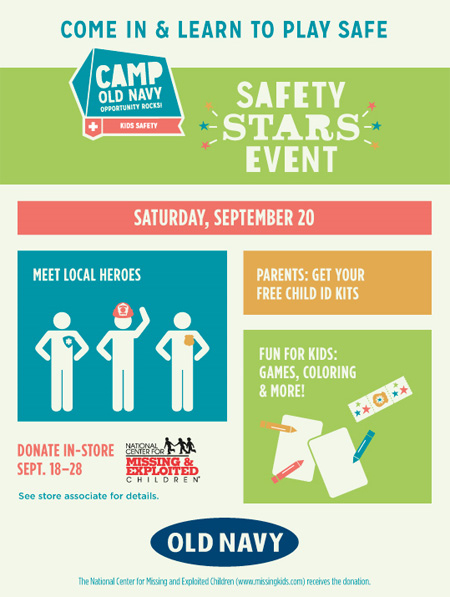 Safety Stars Event at Old Navy