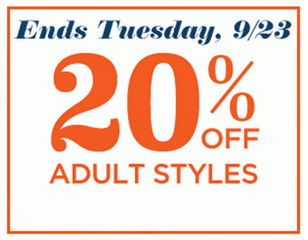 20% Off Adult Styles at Old Navy