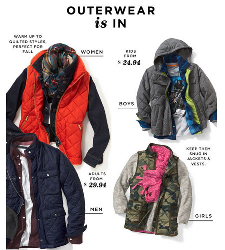 Shop New Outerwear at Old Navy