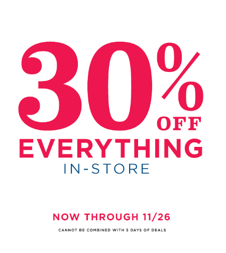 30% Off Everything at Old Navy