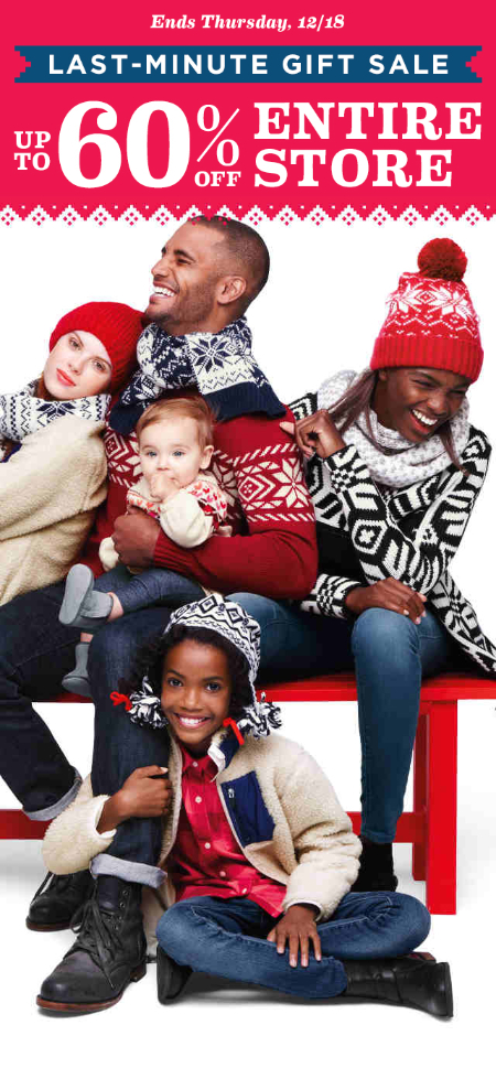 Up to 60% Off Entire Store at Old Navy