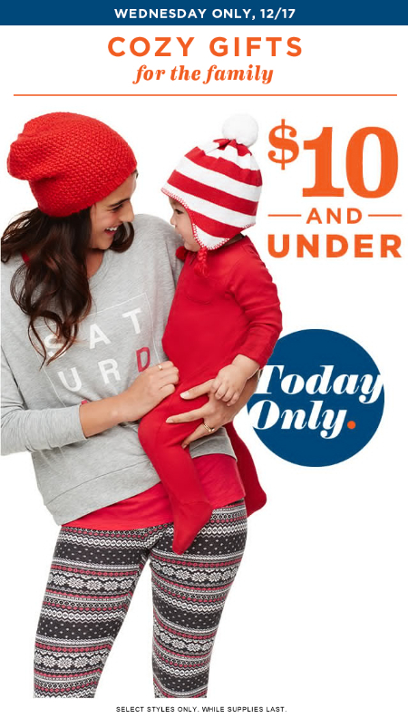 Cozy Gifts $10 & Under at Old Navy