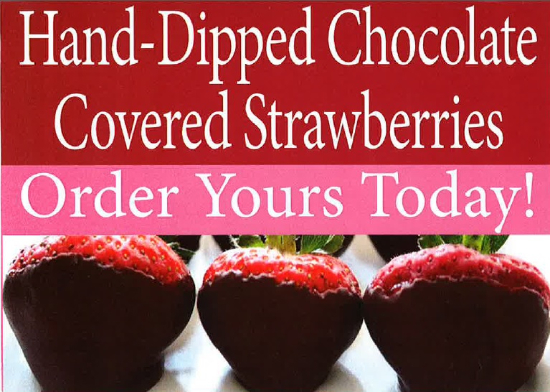 Hand Dipped Chocolate Covered Strawberries Will Be
