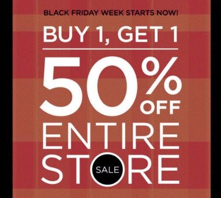 BOGO 50% Off Entire Store