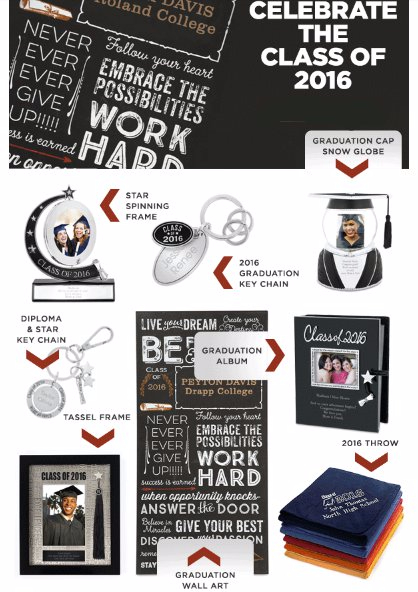 Personalized Graduation Gifts With Lots of Pomp