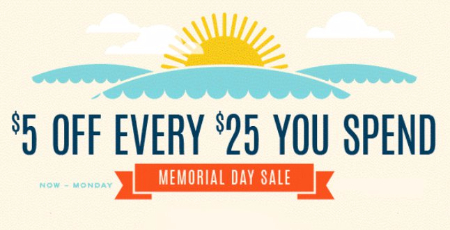 $5 Off Every $25 You Spend