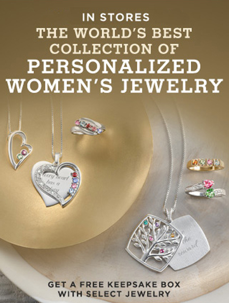 Free Keepsake Box with Select Jewelry at Things Remembered