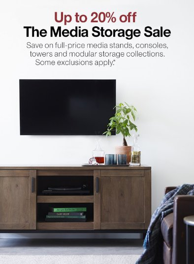 Up to 20% Off The Media Storage Sale