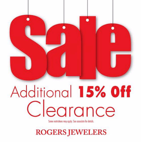 Red Tag Sale at Rogers Jewelers