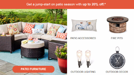 Up to 20% Off Patio